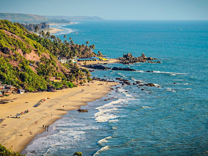 Пляжи Северного Гоа состоят из