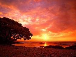 Коста-Рика - закат на пляже