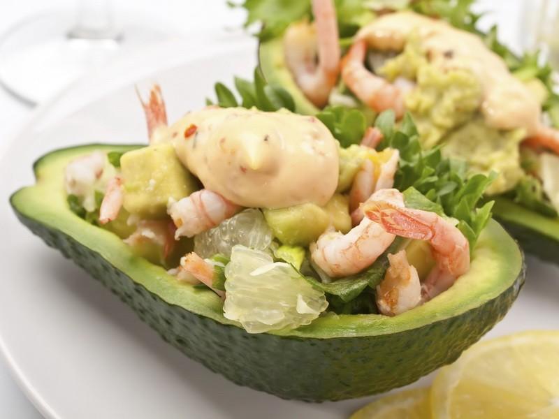 Салаты авокадо
