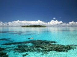Кука острова - лагуна