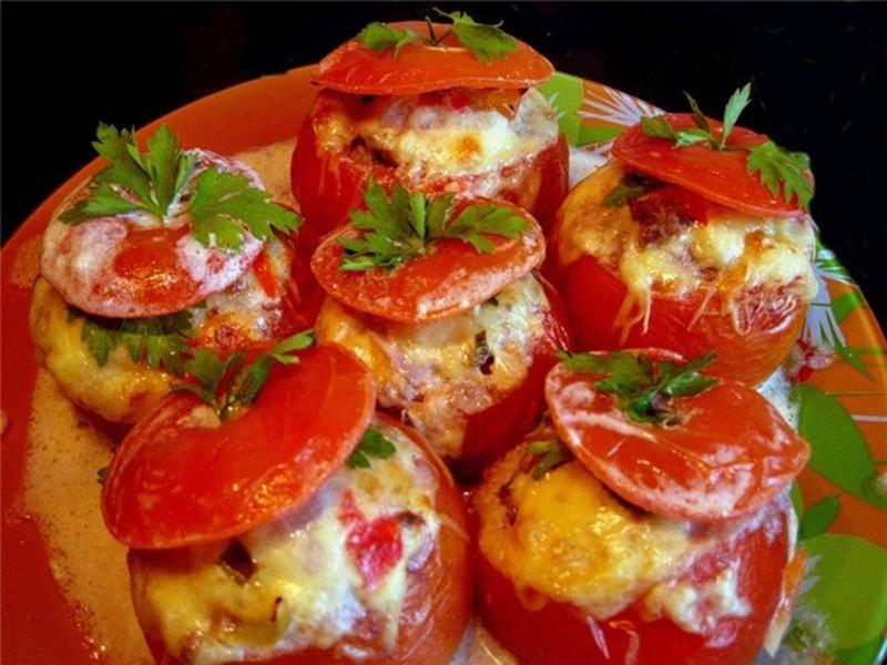 Фаршированные помидоры рецепт с фото запеченные
