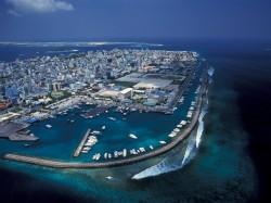 1. Мальдивы - Мале с высоты птичьего полета