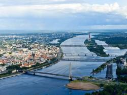 1. Латвия - Рига с высоты птичьего полета