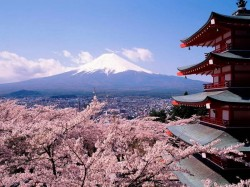 3. Япония - вулкан Фудзияма