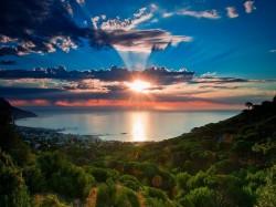 1. ЮАР - закат над Атлантическим океаном